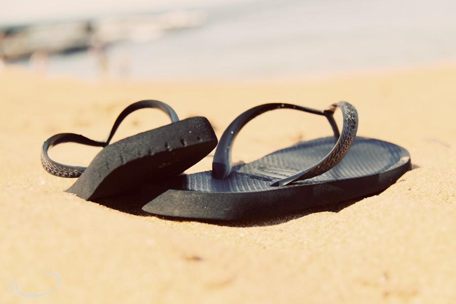 Mona Vale Sydney Photographer: Thongs on the beach in summer