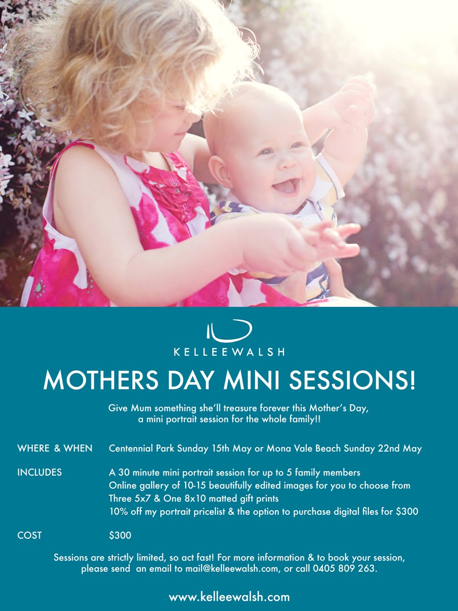 Mother's Day Mini Sessions Special