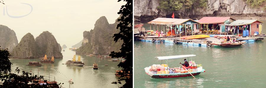 Halong Bay Vietnam Wedding Photographer: Floating markets