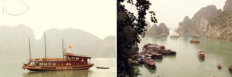 Halong Bay Vietnam Wedding Photographer: Floating villages
