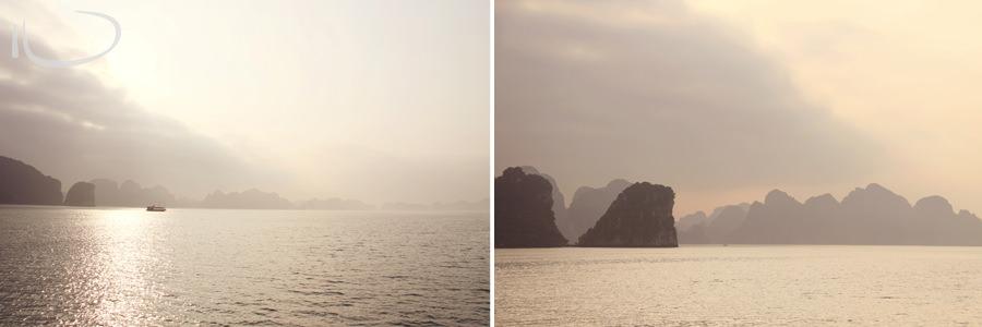 Halong Bay Vietnam Wedding Photographer: Halong bay at Sunset