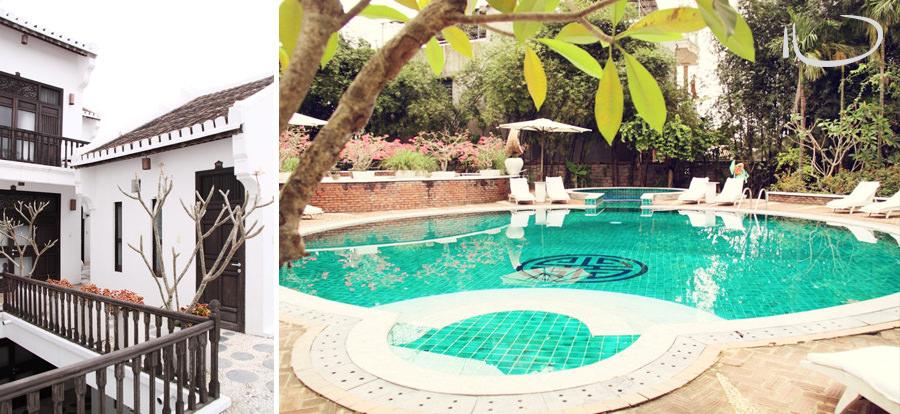 Hoi An Vietnam Wedding Photographer: Resort pool