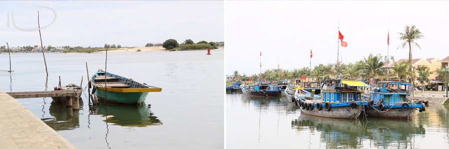 Vietnam Wedding Photographer: Boats on the river