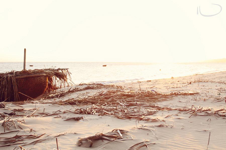 Mui Ne Vietnam Wedding Photographer: Fishing boat on beach at sunset
