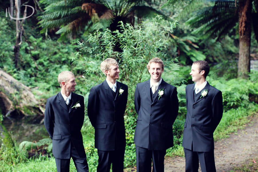 Apollo Bay Victoria Wedding Photographer: Groom & groomsmen group portrait