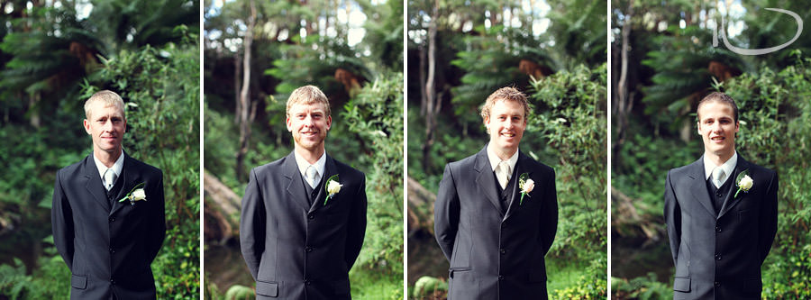 Apollo Bay Victoria Wedding Photographer: Groom & groomsmen individual portraits