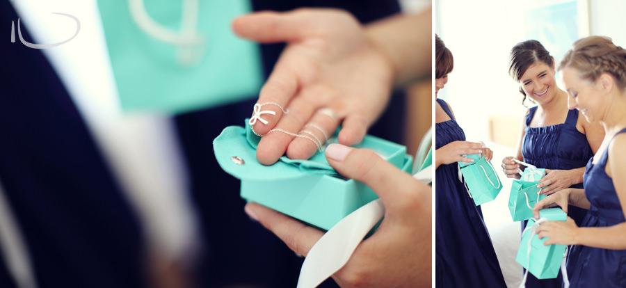 Apollo Bay Victoria Wedding Photographer: Bridesmaids opening gifts