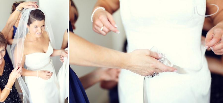 Apollo Bay Victoria Wedding Photographer: Mother putting on veil