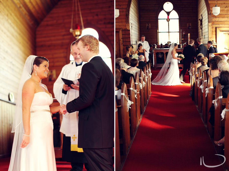 St. Aidans Church Apollo Bay Victoria Wedding Photographer: Exchange of rings