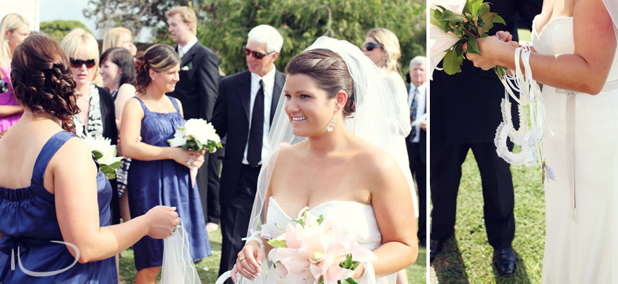 St. Aidans Church Apollo Bay Victoria Wedding Photographer: Bride after ceremony