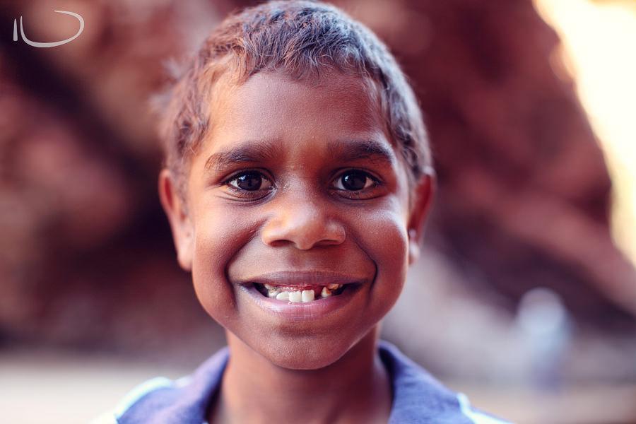 Alice Springs Family Photographer: Aboriginal child portrait