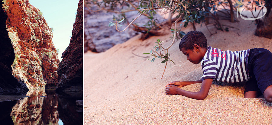Alice Springs Family Photographer: Catching grasshoppers