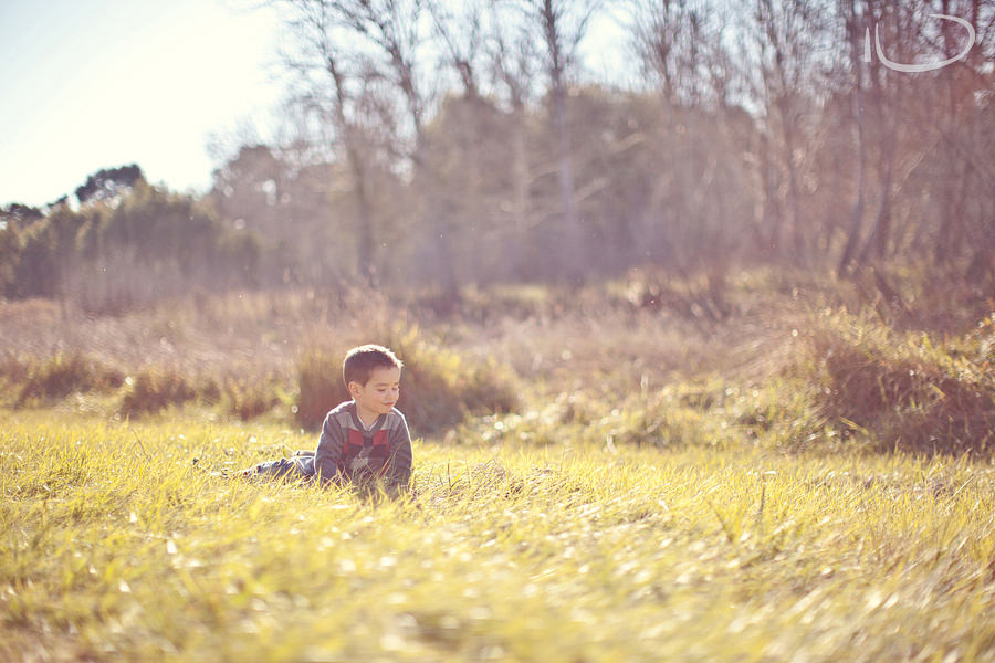 Canberra Family Photographer: Toddler in grassy field