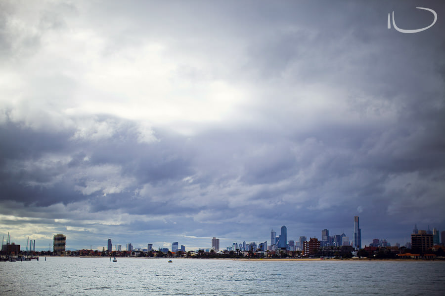 Brighton Beach Melbourne Portrait Photographer: Melbourne skyline