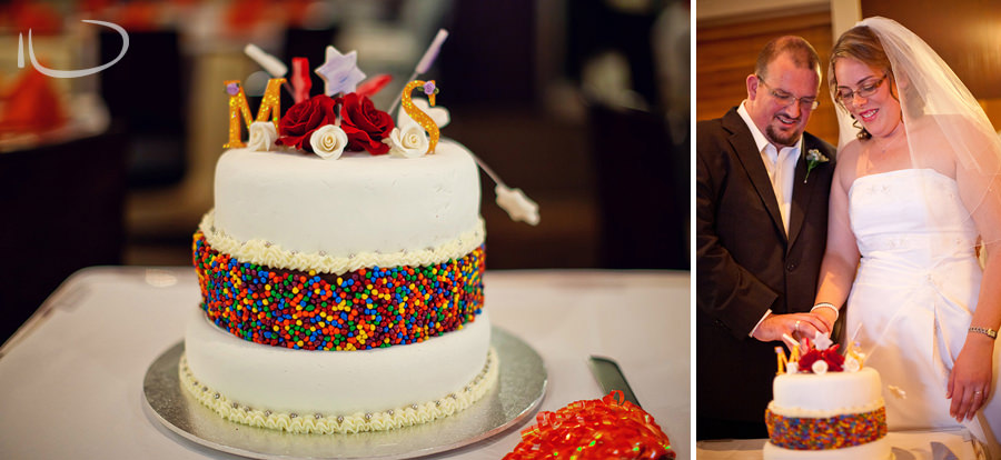 Club Burwood Sydney Wedding Photographer: Wedding cake