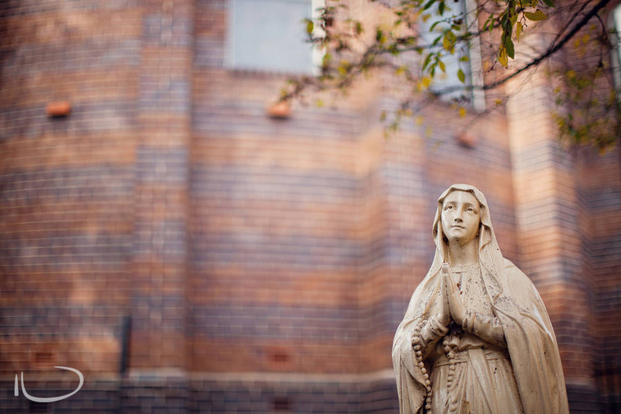 St Mary's Church Concord Sydney Wedding Photographer: Mary statue