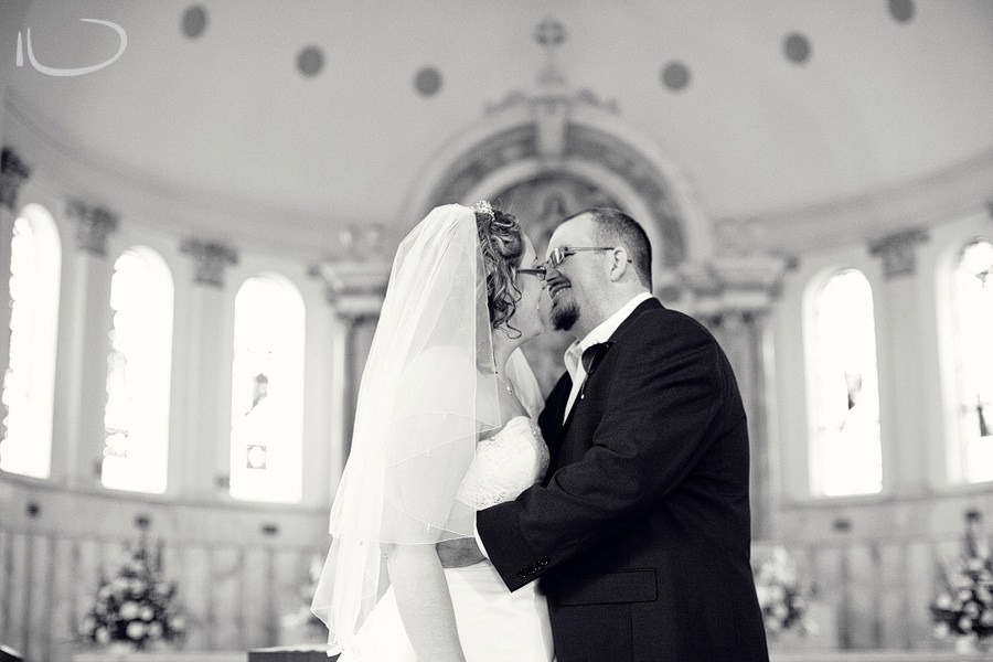 St Mary's Church Concord Sydney Wedding Photographer: First kiss