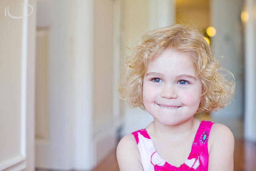 Summer Hill Sydney Family Photographer: Blond girl in pink dress