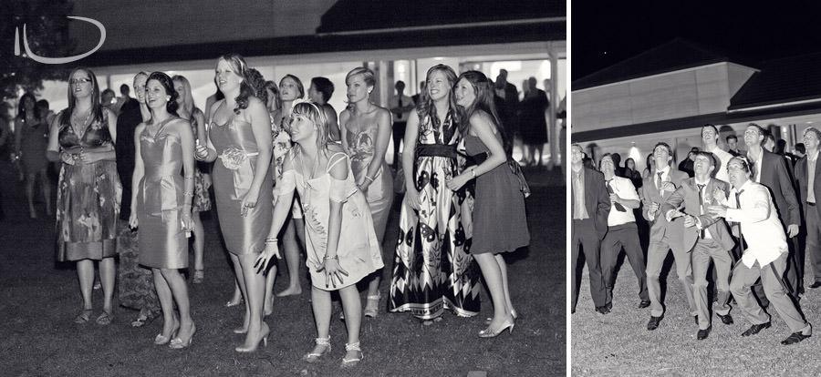 Margan Winery Hunter Valley Wedding Photographer: Bouquet & garter toss