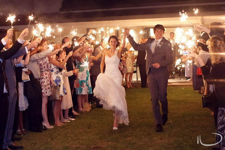 Margan Winery Hunter Valley Wedding Photographer: Reception sparkler exit