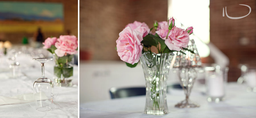 Sydney Wedding Photographer: Reception rose centerpieces