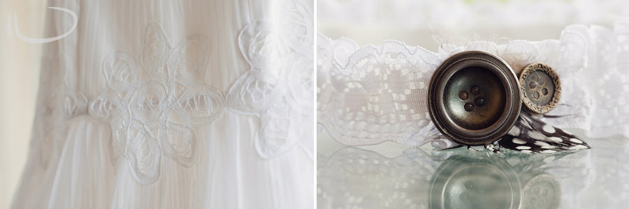 Pokolbin Hunter Valley Wedding Photographer: Dress & garter details