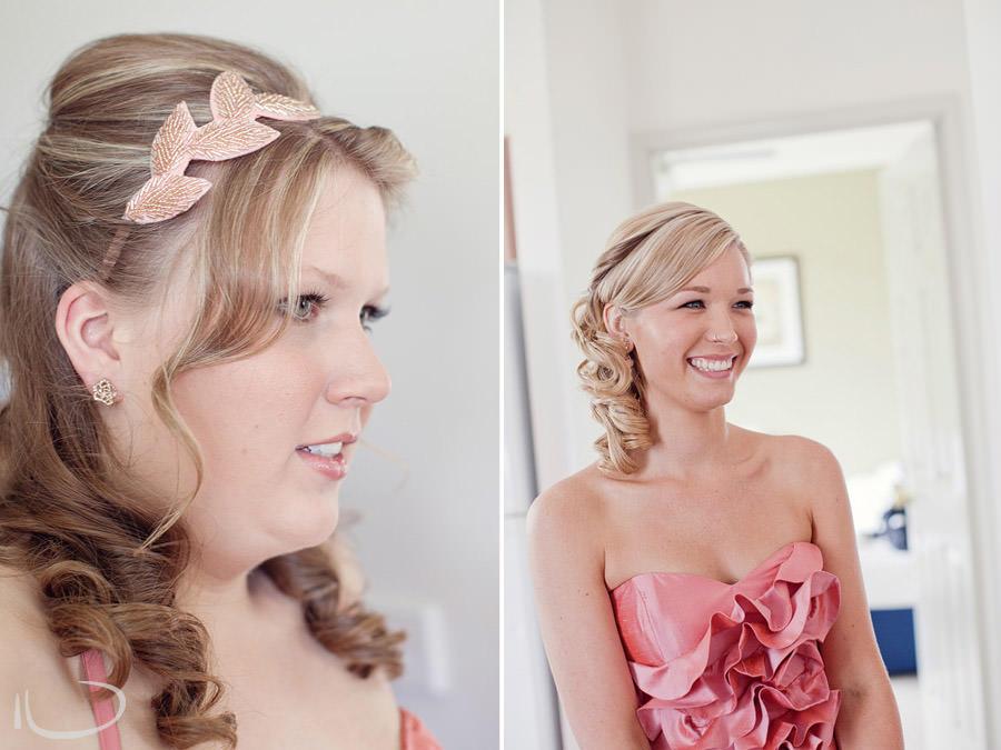 Pokolbin Hunter Valley Wedding Photographer: Bridesmaids dressed