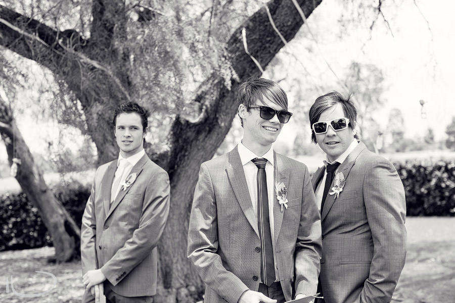 The Vintage Hunter Valley Wedding Photographer: Groomsmen before ceremony