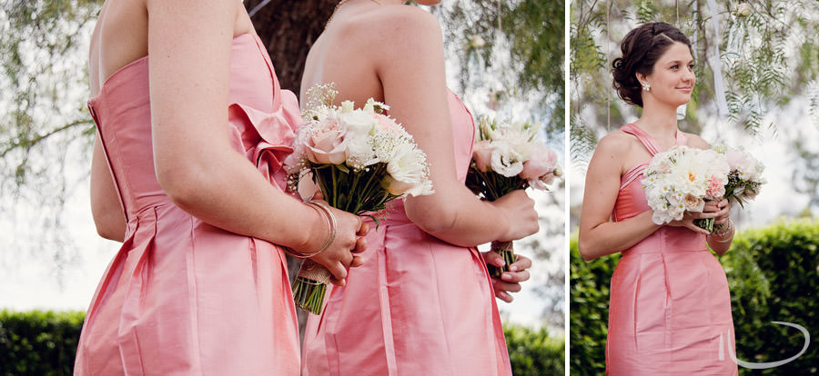 The Vintage Hunter Valley Wedding Photographer: Bridesmaids during ceremony