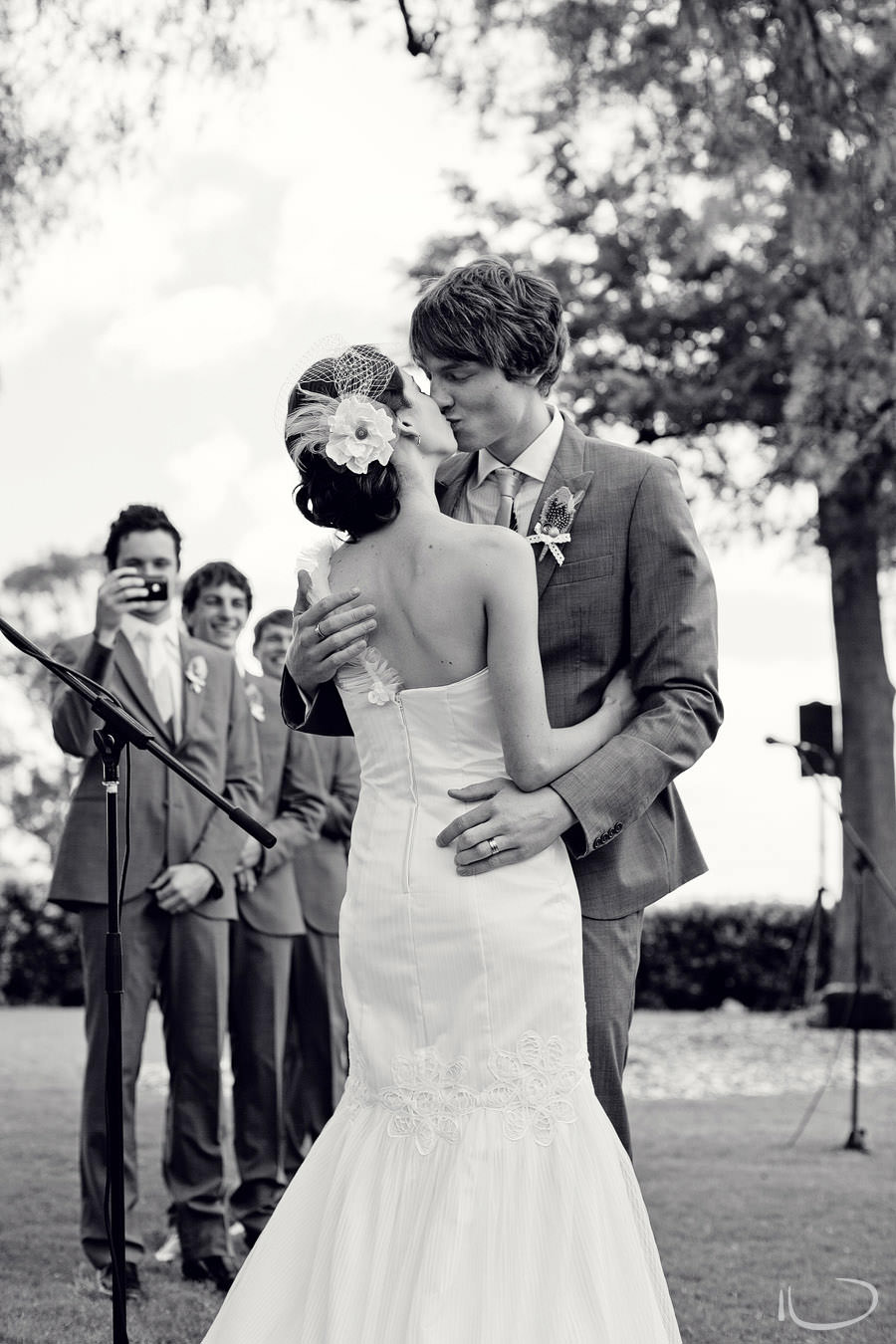 The Vintage Hunter Valley Wedding Photographer: Bride & Groom first kiss