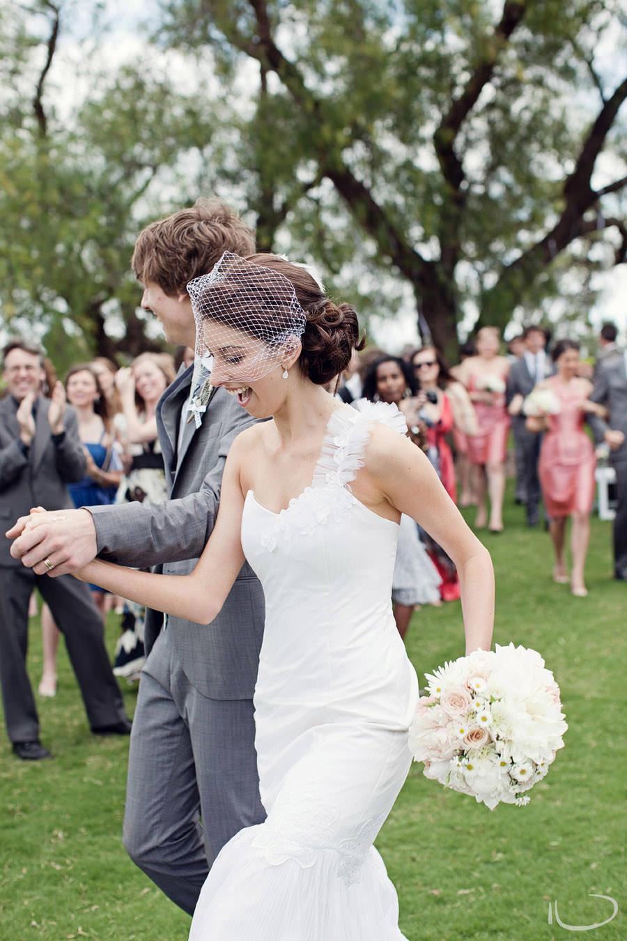 Sydney Wedding Photographer: Bride & Groom walking down the aisle