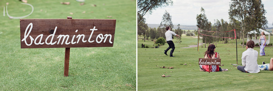 The Vintage Hunter Valley Wedding Photographer: Lawn games - badminton