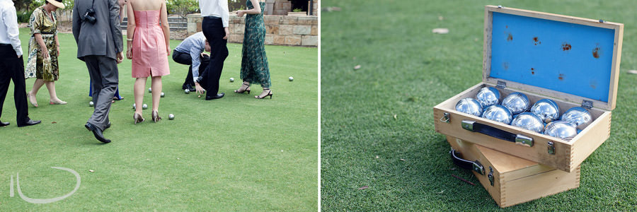 The Vintage Hunter Valley Wedding Photographer: Lawn games - boules