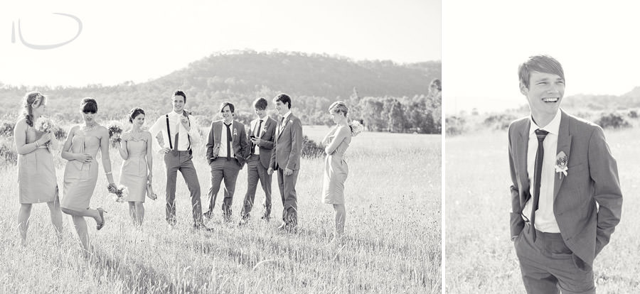 The Vintage Hunter Valley Wedding Photographer: Bridal party relaxed portrait