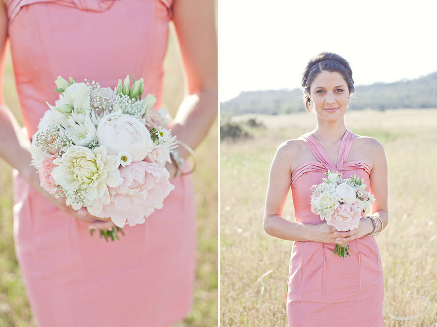 The Vintage Hunter Valley Wedding Photographer: Bridesmaid portrait and bouquet detail