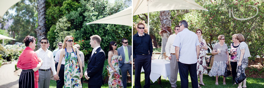 Banjo Paterson Gladesville Wedding Photographer: Guests before ceremony