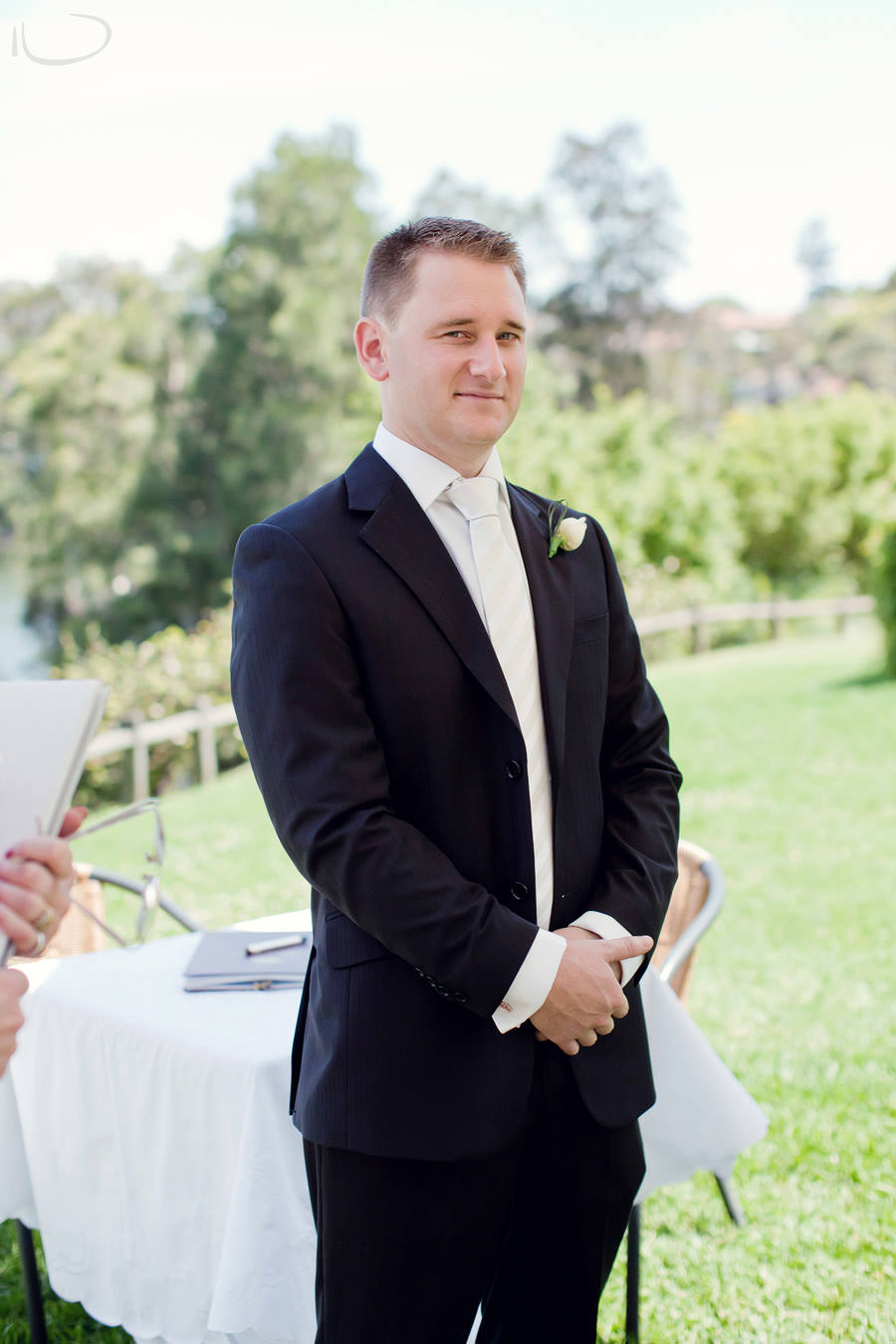 Banjo Paterson Gladesville Wedding Photographer: Groom waiting for bride