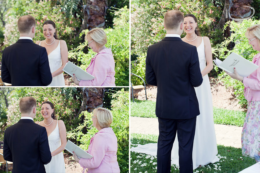 Sydney Wedding Photographer: Bride laughing during ceremony