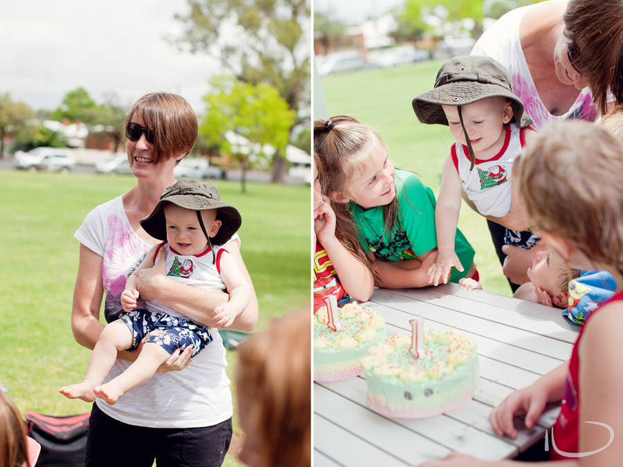 Northern Beaches Sydney Child Birthday Party Photographer: 1 year old blowing out candles