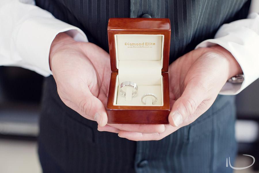 Hunters Hill Wedding Photographer: Best Man holding rings