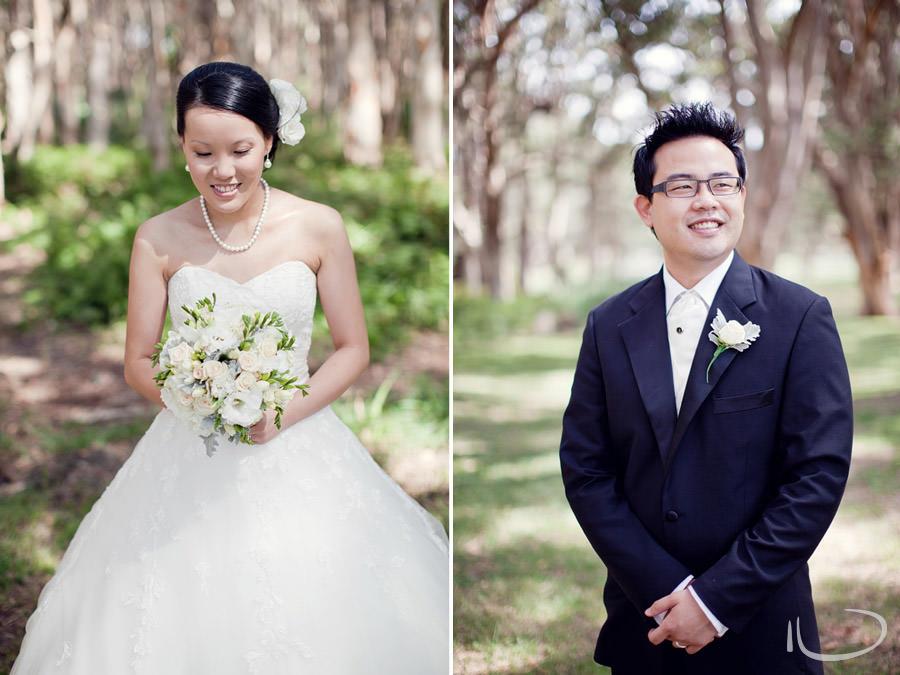 Centennial Park Wedding Photographer: Bride & Groom individual portraits