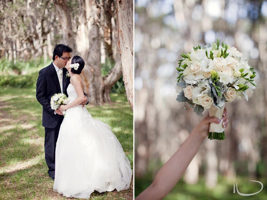 Wedding portrait photographer: Bride & Groom kissing