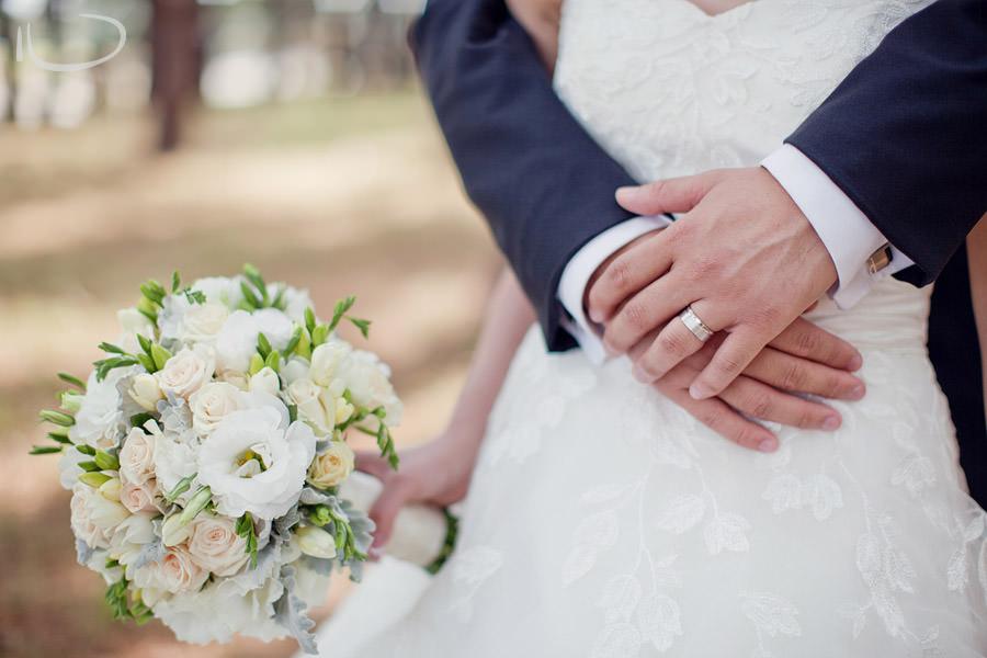 Sydney Wedding Photographer: Bride & Groom ring & bouquet