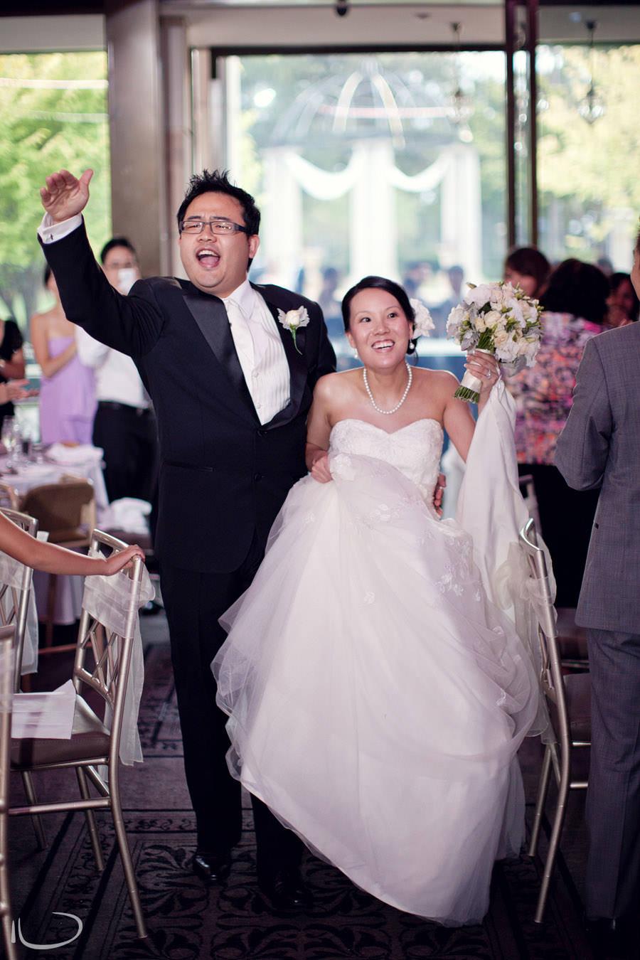 Curzon Hall Marsfield Wedding Photographer: Bride & Groom reception entrance