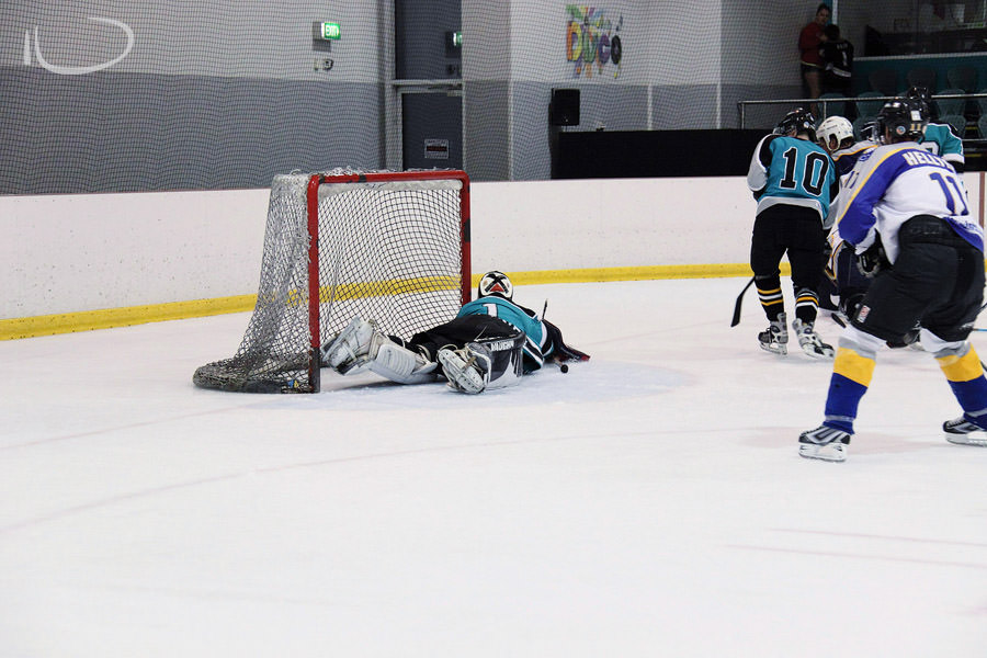 Ice Hockey Sydney Sports Photographer: Goalie save