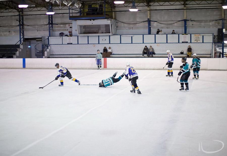 Ice Hockey Sydney Sports Photographer: Faceplant