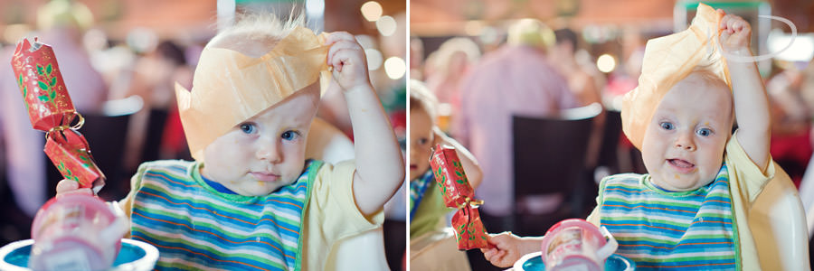 Mona Vale Sydney Baby Photographer: Digby wearing Christmas hat