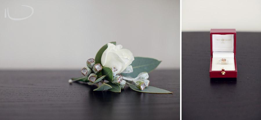Glebe Wedding Photographers: Wedding ring & boutonierre