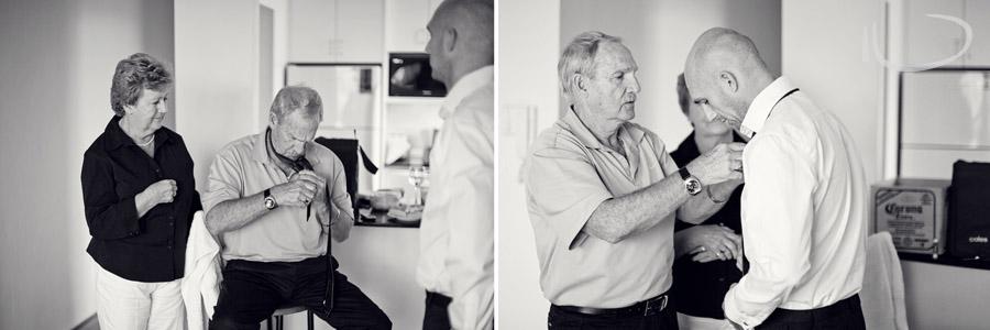 Photojournalistic Wedding Photography: Groom getting ready