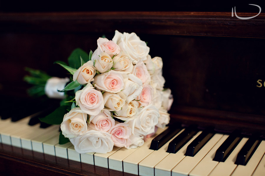 Moss Vale Wedding Photographer: Bridesmaid Bouquet on Piano